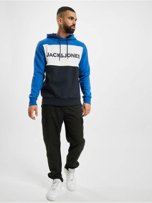 Jack & Jones Hoody jjeLogo Blocking blau