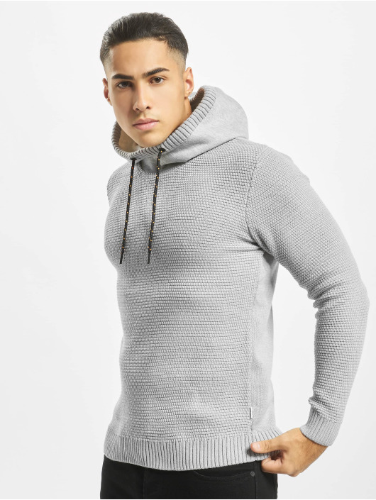 Jack & Jones Hoody jcoSpruce Knit grau