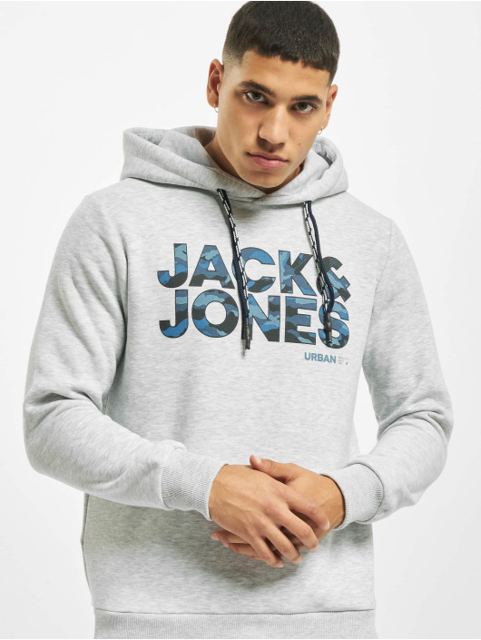 Jack & Jones Hoody jcoRad grau