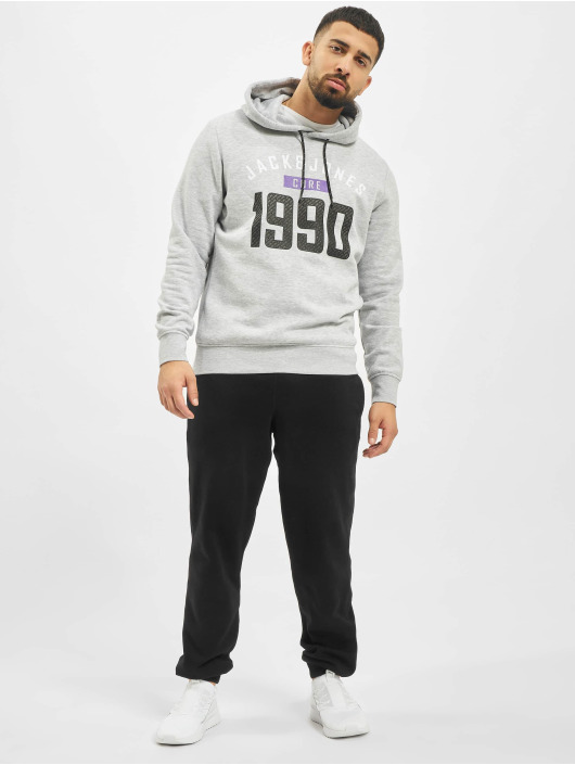 Jack & Jones Hoody jcoCarving grijs