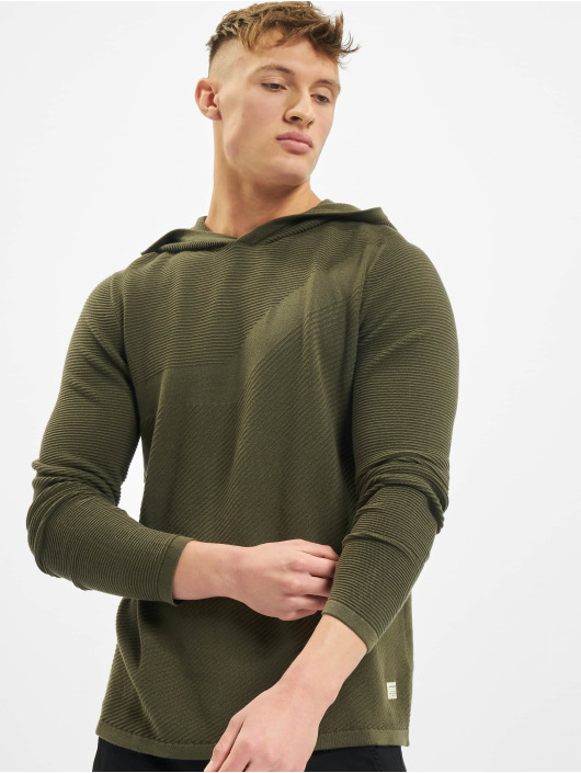 Jack & Jones Hoody jjBronco Knit olijfgroen