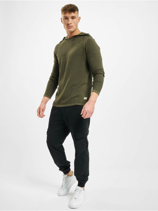 Jack & Jones Hoody jjBronco Knit olive