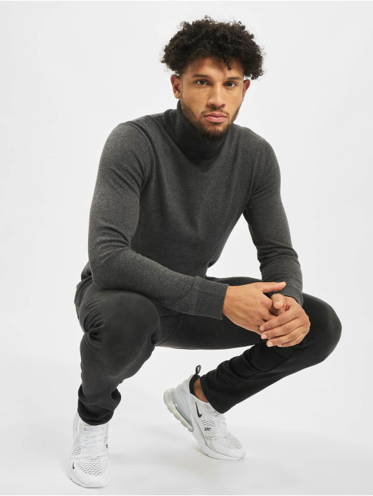 Jack & Jones Jumper jjeEmil Knit Roll Neck grey
