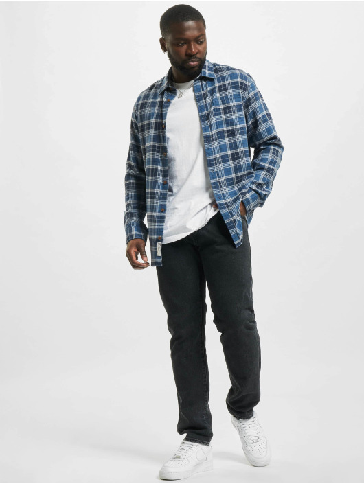 Jack & Jones Košele jprBlukevin Check One modrá