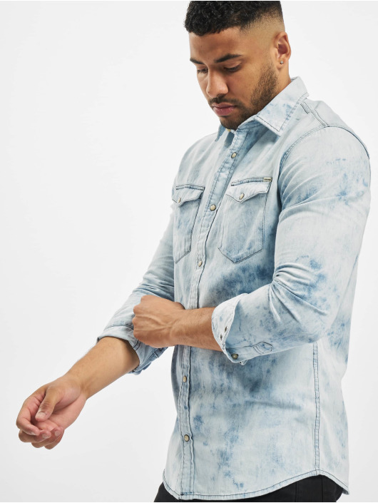 Jack & Jones Košile jprBlusheridan Tie Dye modrý