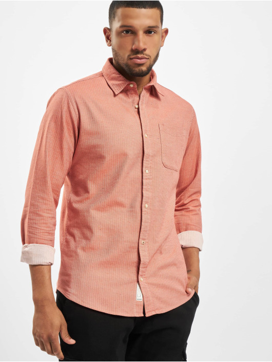 Jack & Jones Koszule jprBlusean One Pocket czerwony