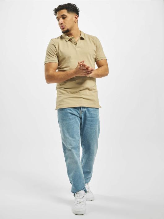 Jack & Jones Koszulki Polo jjeBasic Noos bezowy