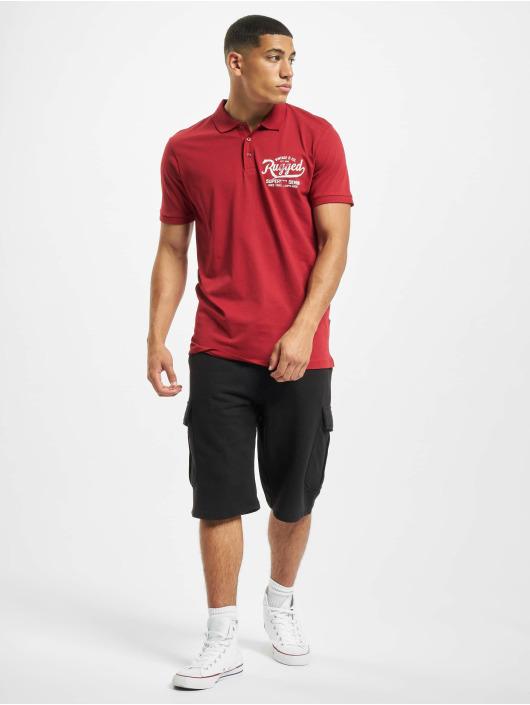 Jack & Jones Koszulki Polo jprBlurugged czerwony