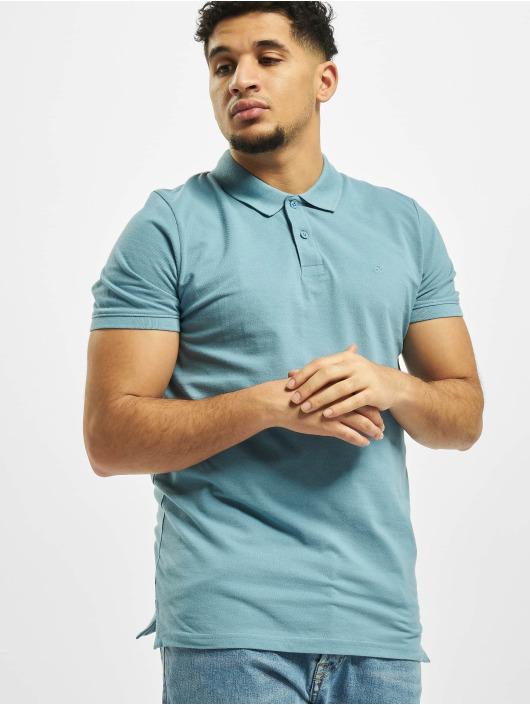 Jack & Jones Koszulki Polo jjeBasic Noos niebieski