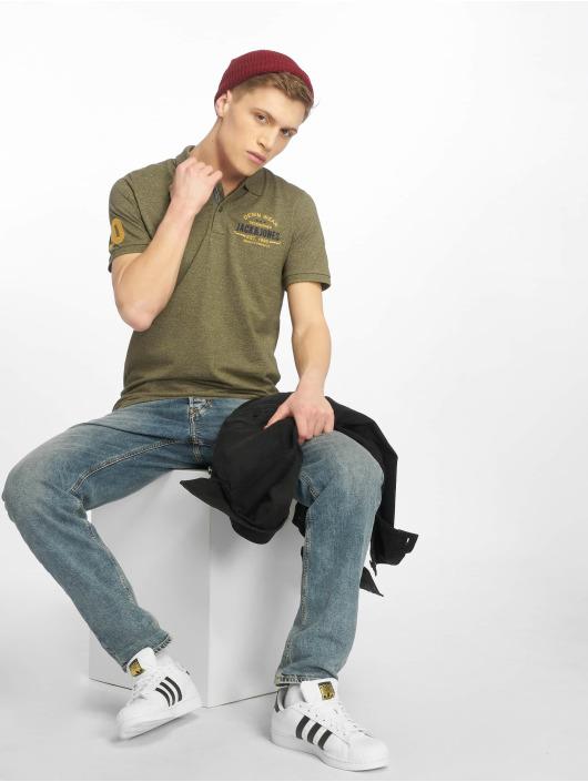 Jack & Jones Koszulki Polo jjeJeans oliwkowy