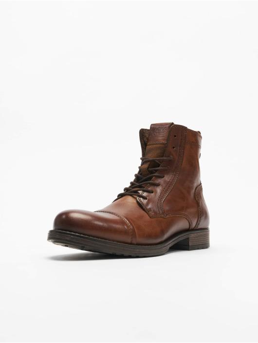 Jack & Jones Kozaki jfwRussel Leather Warm brazowy