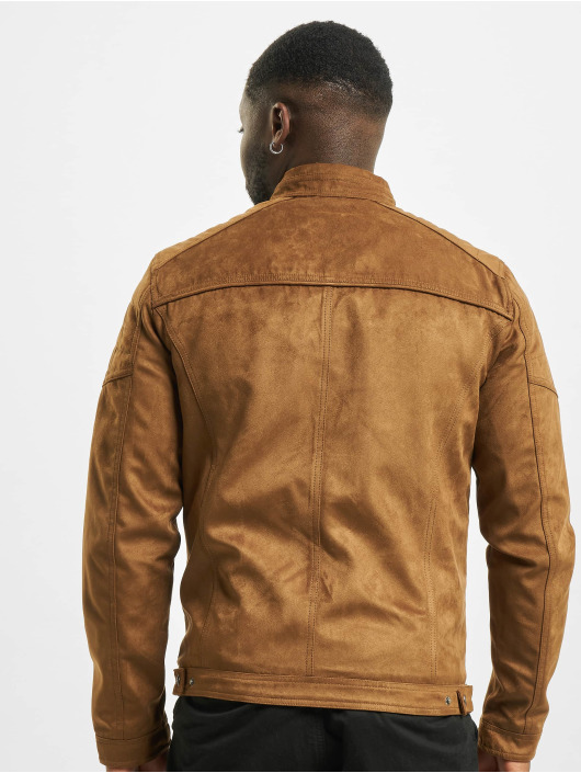 Jack & Jones Leather Jacket jjeRocky Noos brown