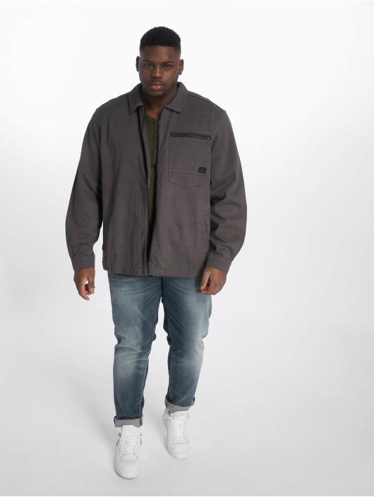 Jack & Jones Lightweight Jacket jcoStation Shacket One Pocket grey