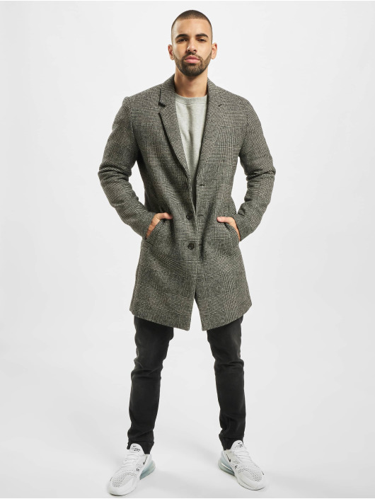 Jack & Jones Mantel jprMoulder Check Wool grau