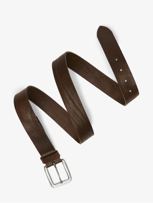 Jack & Jones Opasky jacVictor Leather Noos hnedá
