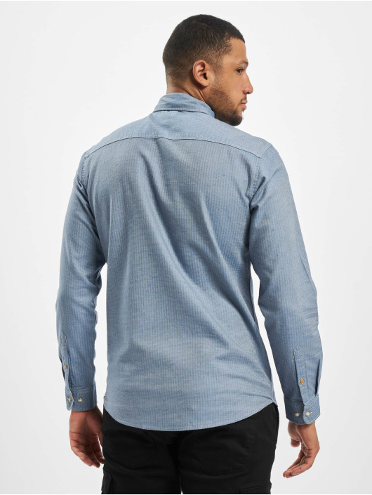 Jack & Jones overhemd jprBlusean One Pocke blauw