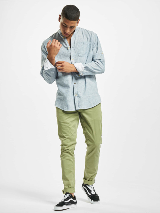Jack & Jones overhemd jprBlusummer Dobby Band wit