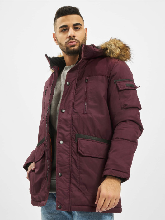 Jack & Jones Parka jcoGlobe red