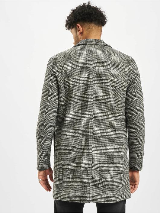 Jack & Jones Płaszcze jorBlinders Checked Wool czarny