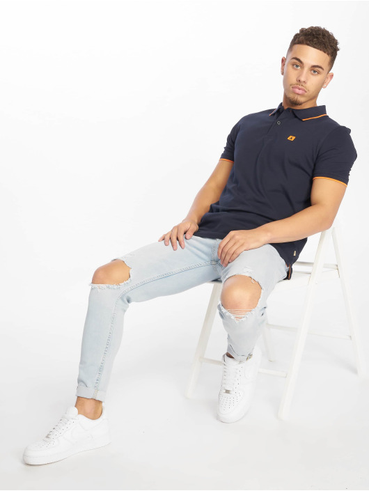 Jack & Jones Polo jjeStone bleu