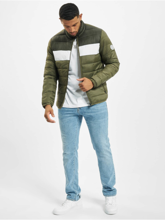 Jack & Jones Puffer Jacket Jjemagic Collar olive