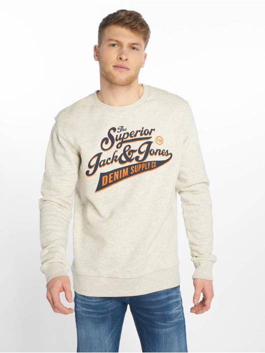 Jack & Jones Pullover jjeLogo beige