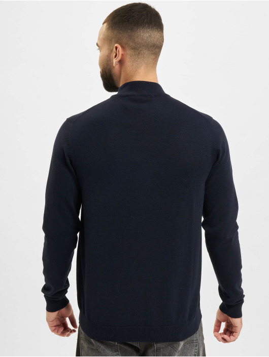 Jack & Jones Pullover jprBlacamp Knit High Neck blau