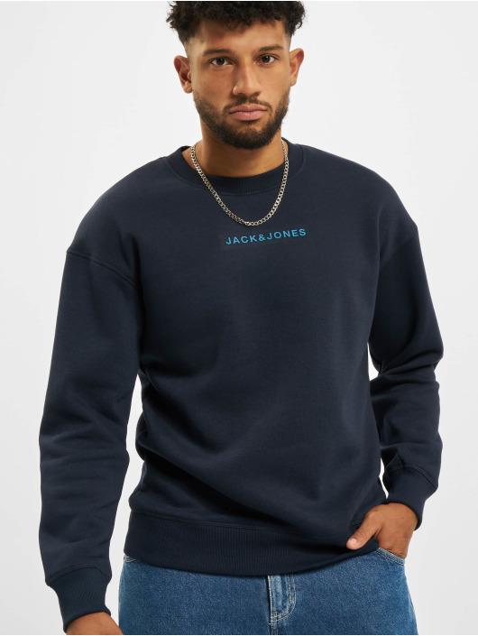 Jack & Jones Pullover Jcomarco Crew Neck blau