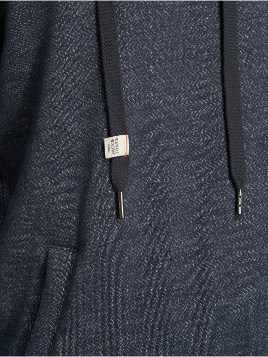 Jack & Jones Pullover Jorlano Cross Over High Neck blue