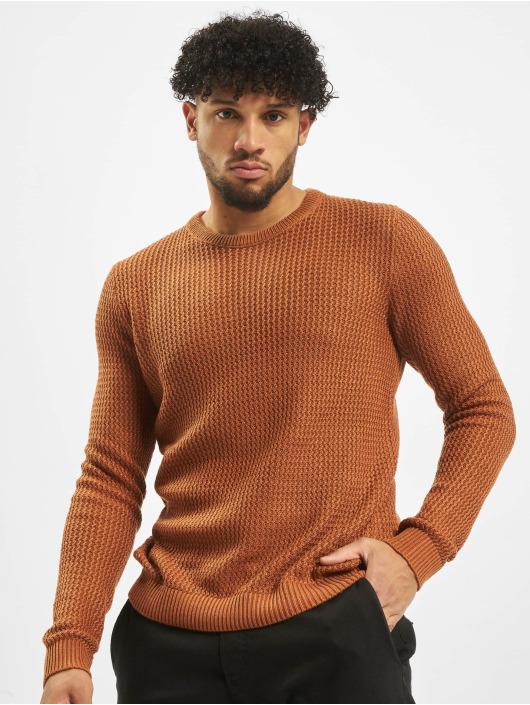 Jack & Jones Pullover jorFlow Knit braun