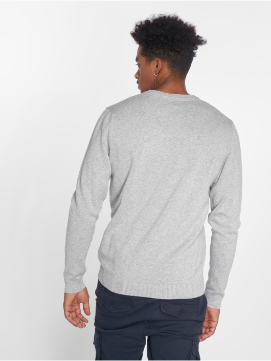 Jack & Jones Pullover jjeBasic Knit gray