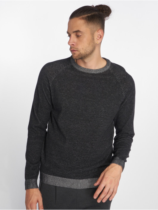 Jack & Jones Pullover jjePlaited Knit schwarz