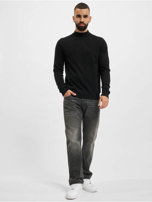 Jack & Jones Pullover jprBlacamp Knit High Neck schwarz