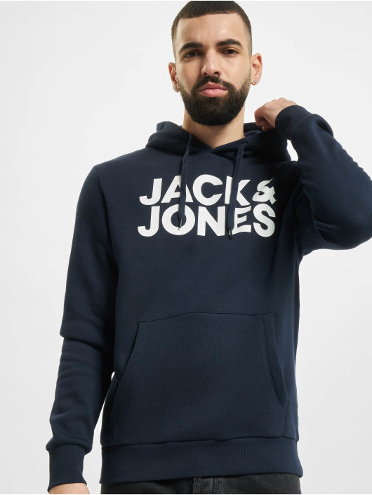 Jack & Jones Pullover Jjecorp Logo 2-Pack schwarz