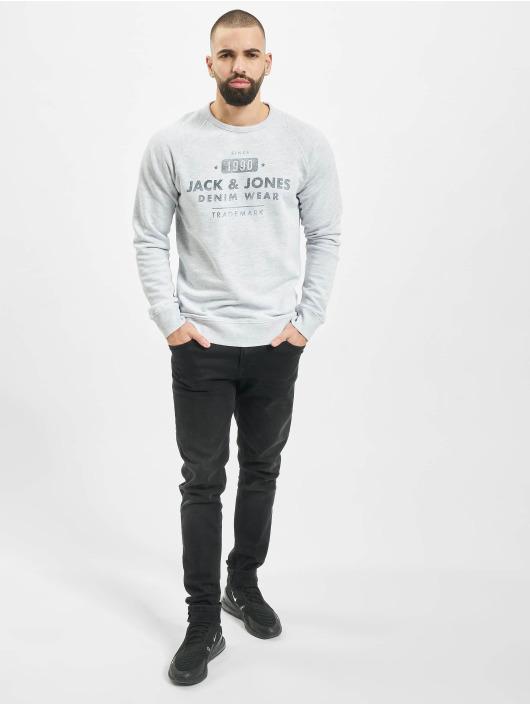 Jack & Jones Pulóvre jjeJeans Washed biela