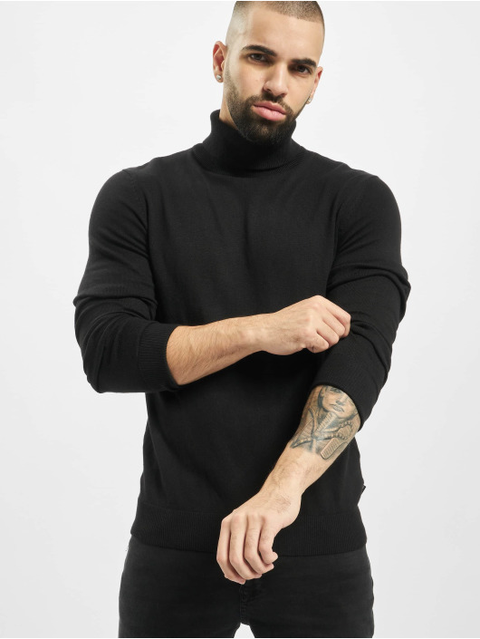 Jack & Jones Puserot jjeEmil Knit Roll Neck musta