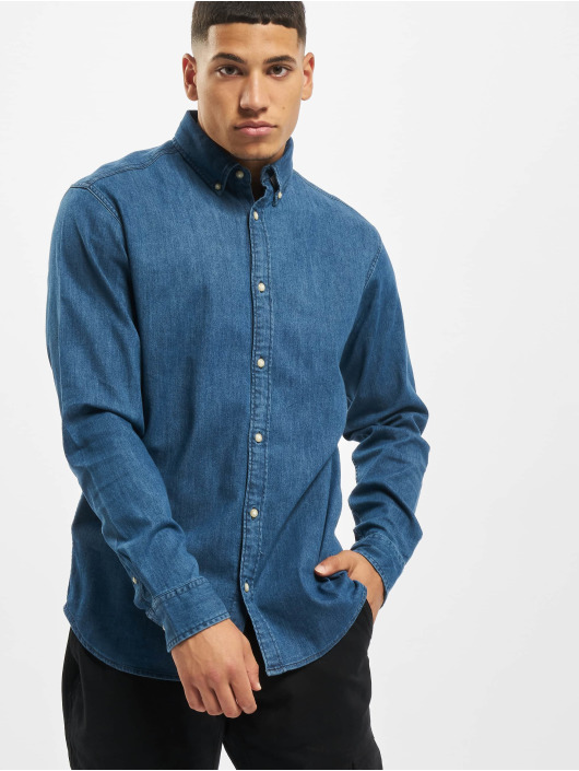 Jack & Jones Shirt jjiLeon Stretch Denim Noos blue