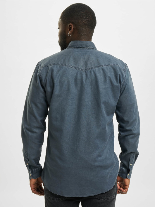 Jack & Jones Shirt jprBlusummer Coated Western blue