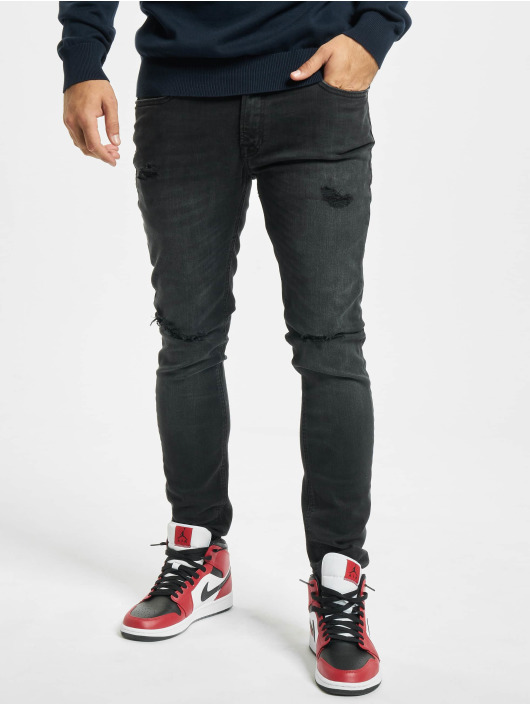 Jack & Jones Skinny jeans jjiLiam jjOriginal Agi 033 svart