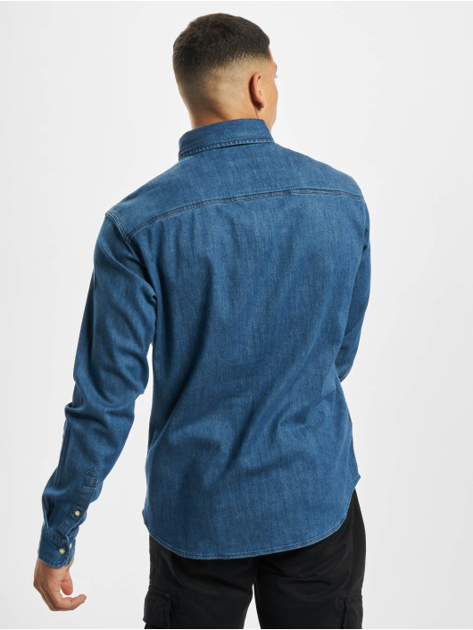 Jack & Jones Skjorter jjiLeon Stretch Denim Noos blå