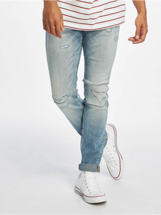 Jack & Jones Slim Fit Jeans jjiGlenn jjOriginal modrá