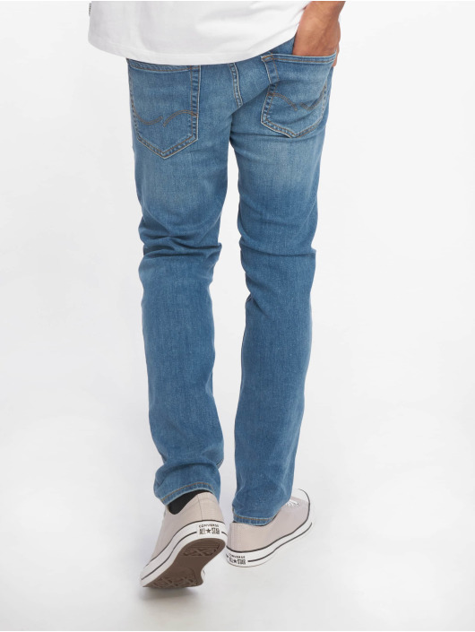 Jack & Jones Slim Fit Jeans jjiGlenn modrá