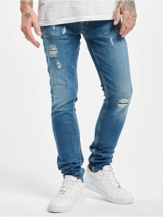 Jack & Jones Slim Fit Jeans jjiGlenn jjOriginal CJ 929 modrá