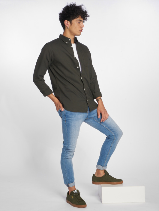 Jack & Jones Slim Fit Jeans jiGlenn jjOriginal NZ003 modrá