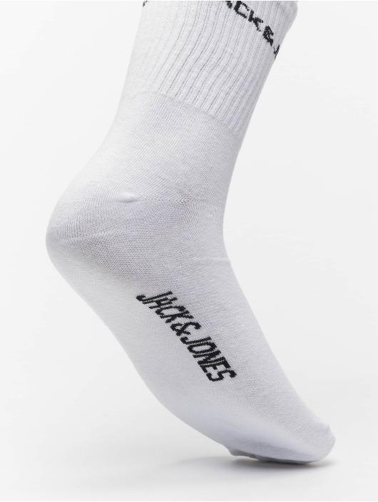 Jack & Jones Socken jacBasic Logo 5 Pack Tennis weiß
