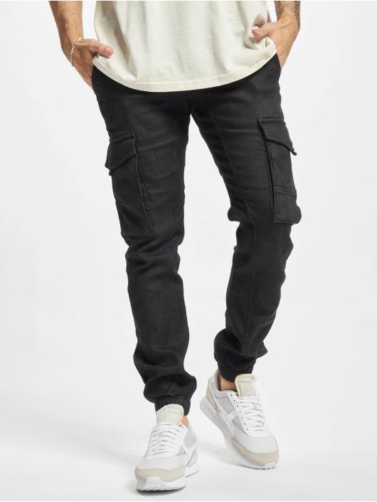 Jack & Jones Spodnie Chino/Cargo Jjipaul Jjflake czarny