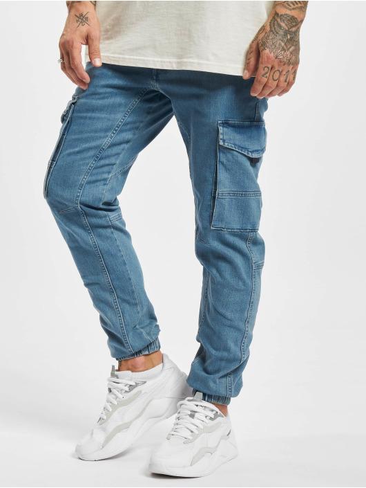 Jack & Jones Spodnie Chino/Cargo Jjipaul Jjflake niebieski