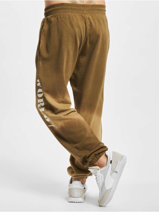 Jack & Jones Spodnie do joggingu Jjiaworld Tiedye brazowy