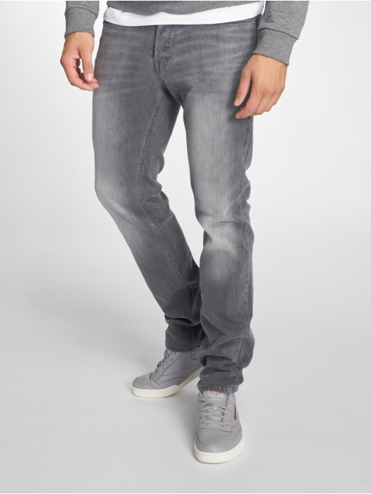 Jack & Jones Straight Fit Jeans jjiTim jjOriginal šedá