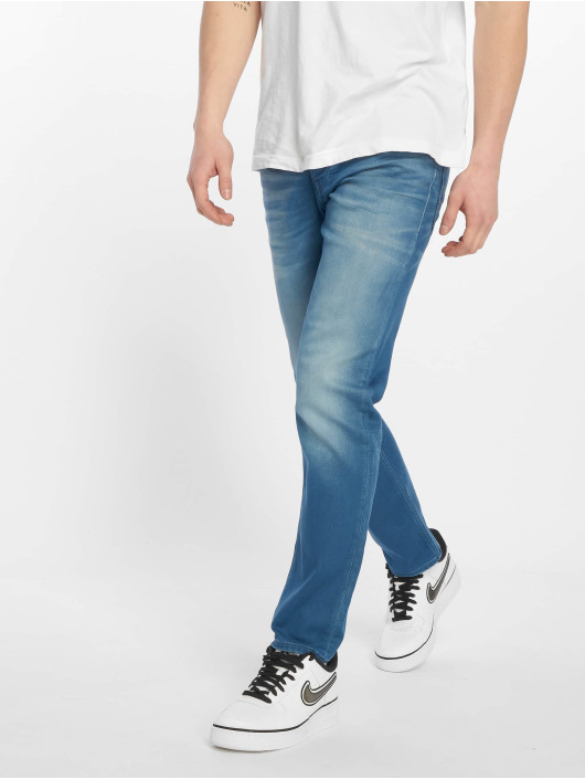 Jack & Jones Straight Fit Jeans jjiTim jjLeon blå
